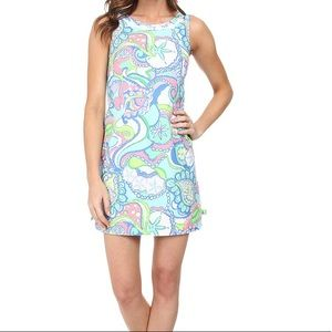 Lily Pulitzer Delia shift conch shell blue dress